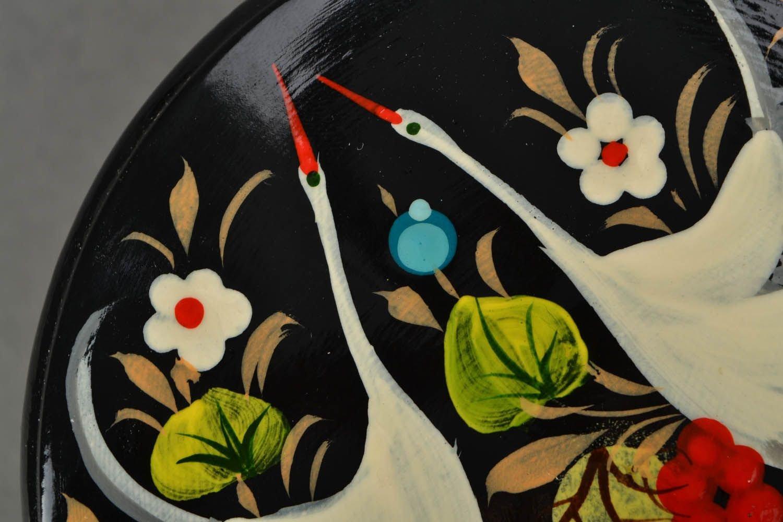 Caja en tilo pintada con dos cigognes de Petrykivka: Amazon ...