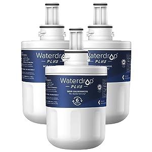 Waterdrop NSF 401&53&42 Certified DA29-00003G Replacement Refrigerator Water Filter, Compatible with Samsung DA29-00003G, Aqua-Pure Plus DA29-00003B, HAFCU1, DA29-00003A, Plus, Pack of 3