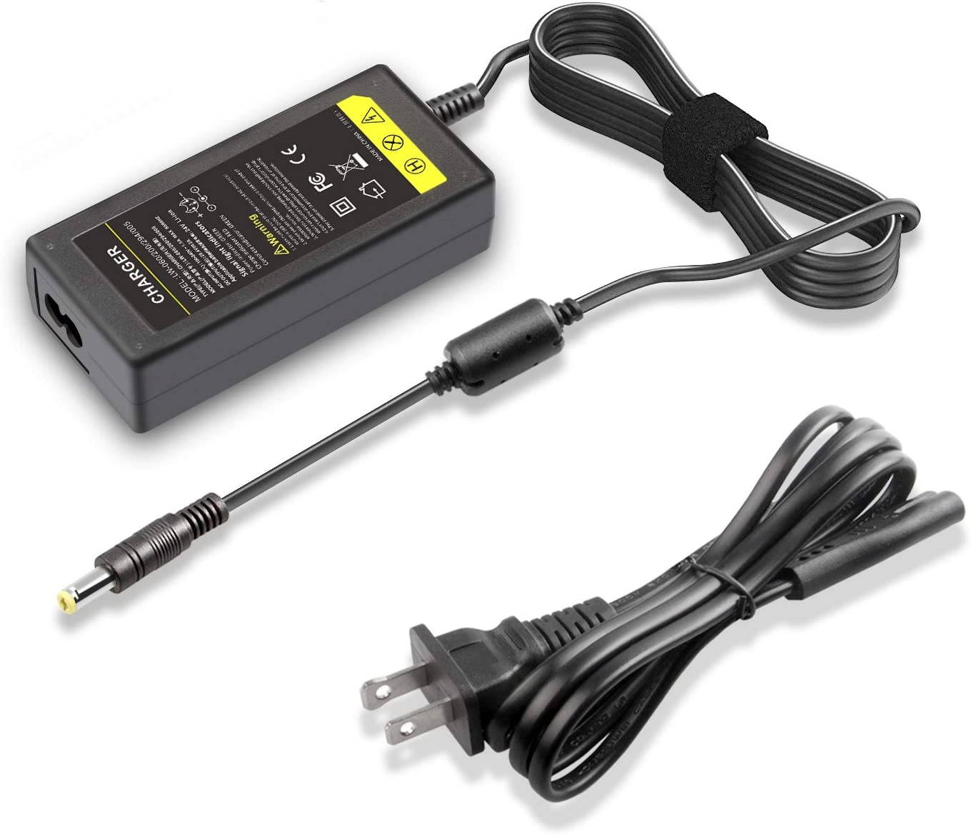 Li-ion Battery Charger Eseegoo UL Listed 29.4V 2A AC//DC Adapter Charger for 24V Input 100-240V AC-DC DC 5.5 x 2.1 mm Round Plug Charge Port for 7 Series 7S Lithium Battery Pack