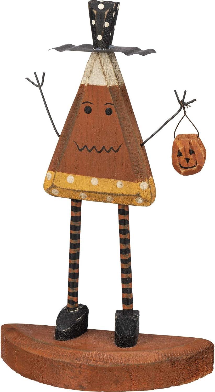 PBK Halloween Decor - Prim Chunky Wood Candy Corn Standing Man