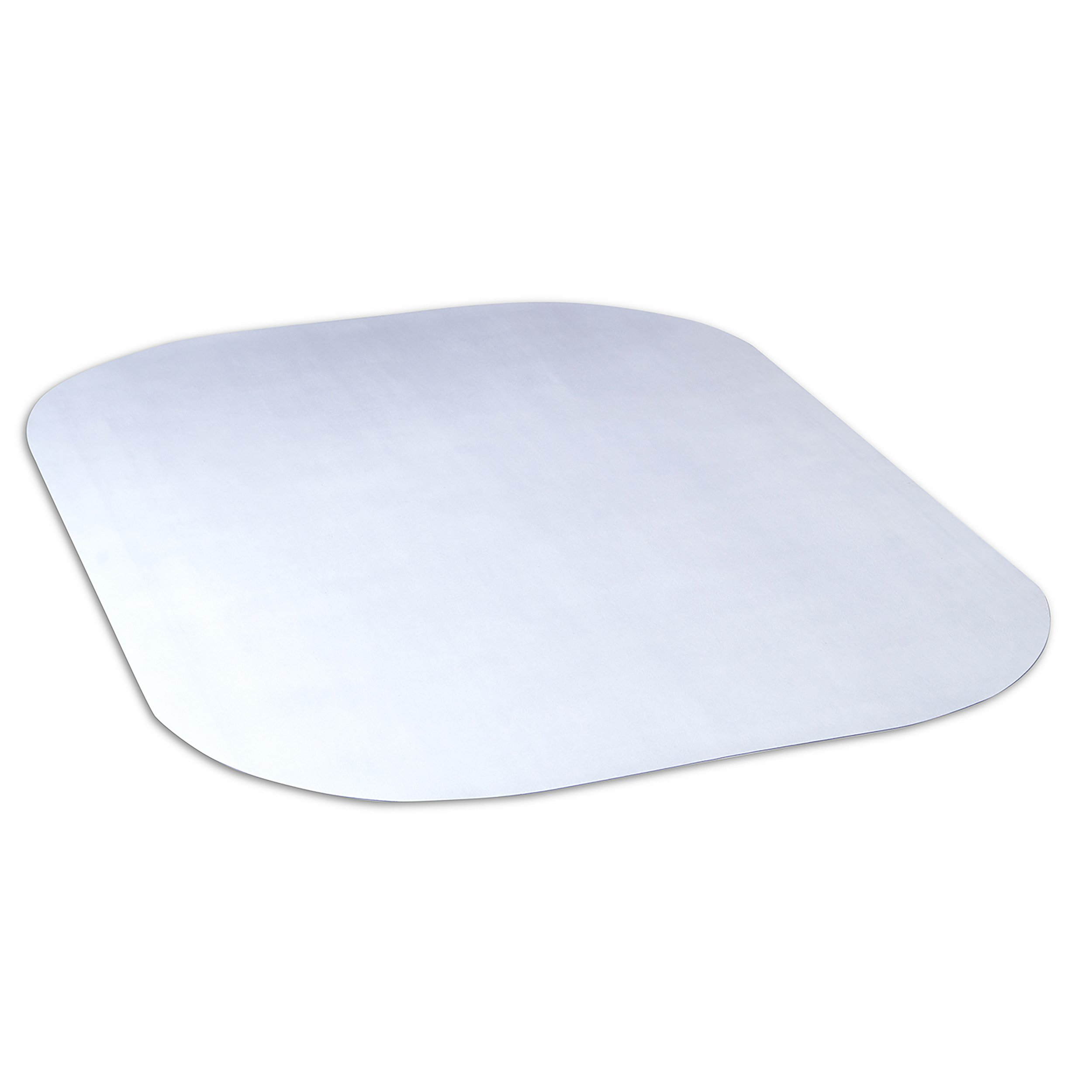 Evolve Modern Shape 45''x 60'' Clear Rectangle Office Chair Mat for Hard Floor from Dimex, Phthalate Free (15E60630)