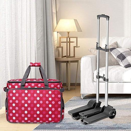 awhao-123 Juego de bolsas con ruedas para máquina de coser, bolsa ...