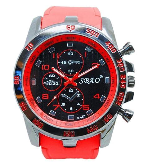 Relojes de pulsera Hombre Relojes Cronógrafo Automático resistente al agua reloj deportivo para vacaciones de verano playa Sport manecillas luminiscentes.