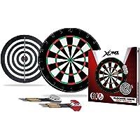 BULLET-Darts Set, Flocked Home Dartboard, 6 Steeldarts