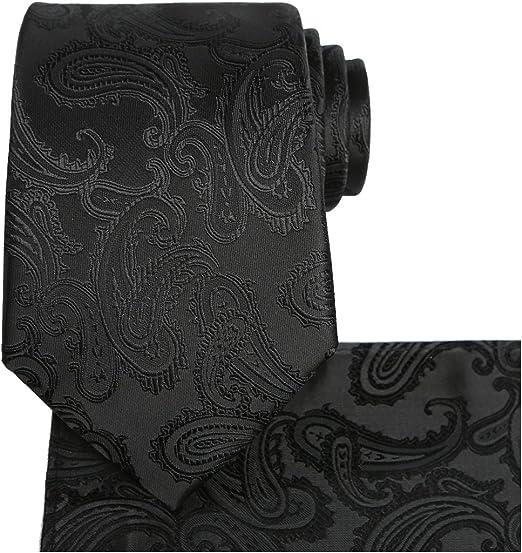 Black Paisley Pocket Square Handkerchief Men/'s