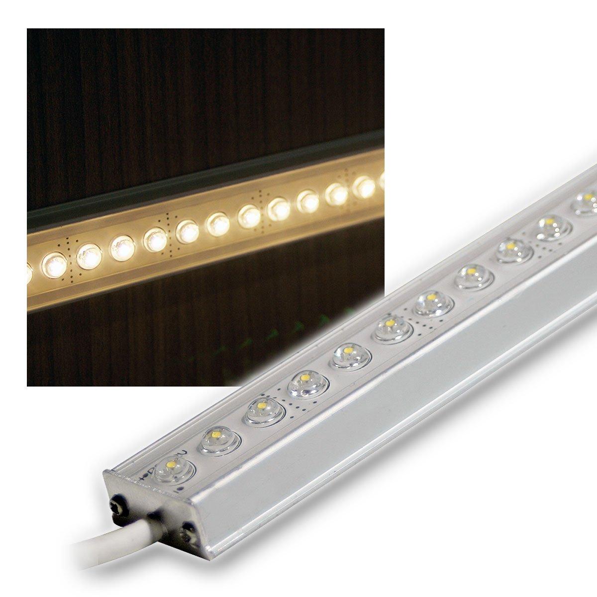 ALU LED Lichtleiste warm-weiß 25cm 12V DC DESIGN: Amazon.de: Beleuchtung