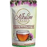 Burdock Root Tea Organic - 100% Alkaline - 15 Unbleached/Chemical-Free Burdock Root Tea Bags - Caffeine-Free, No GMO