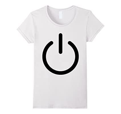 Women S Power Icon T Shirt On Off Symbol Electronic Power Tee Xl