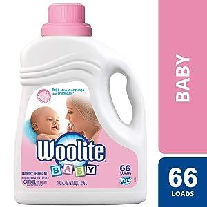 Woolite Baby Laundry Detergent, 66 Loads, Hypoallergenic Liquid Detergent, HE & Standard, Hand Wash