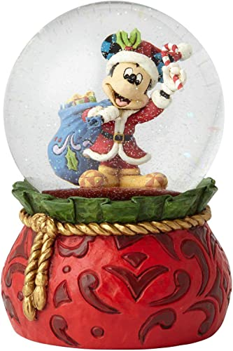 Enesco Disney Traditions by Jim Shore Santa Mickey Waterball, 5.625 , Multicolor