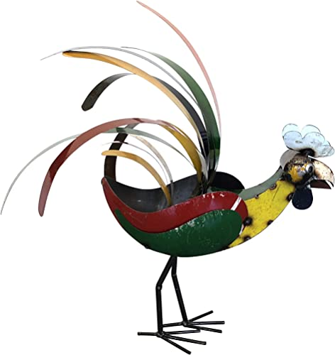 Upcycled Emporium Charming Retro Rooster Statue
