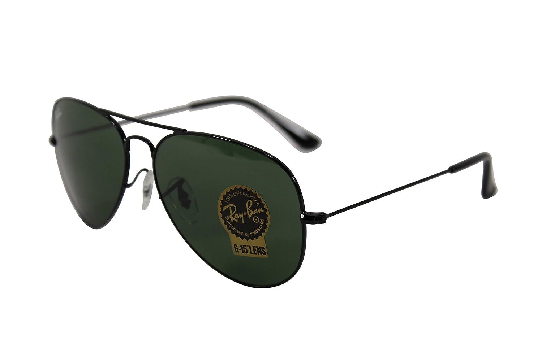 1da28a08ef Amazon.com  Ray-Ban RB3025 Black Green Aviator  Shoes