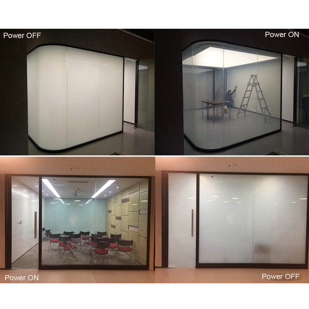 HOHO 100cmx100cm Smart Film Switchable Electronic Privacy Film Projection Screen Film PDLC Electric Smart Glass Film