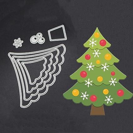 originaltree Árbol de Navidad de corte Die plantilla para DIY manualidades Scrapbooking accesorios, acero al