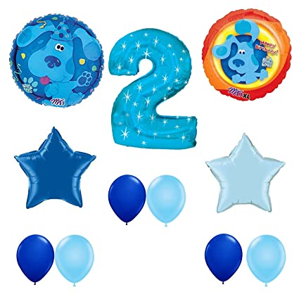 Blues Clues Happy 2nd Birthday Party Balloons Decoration Set Amazonin Toys Games