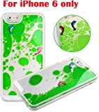 """3D Liquid Flow GREEN Water with 2 Fishes in Full Size Transparent Flowing Glass Tank Pattern Back Cover Phone Case For iPhone 6, 4.7"""" - GREEN"""