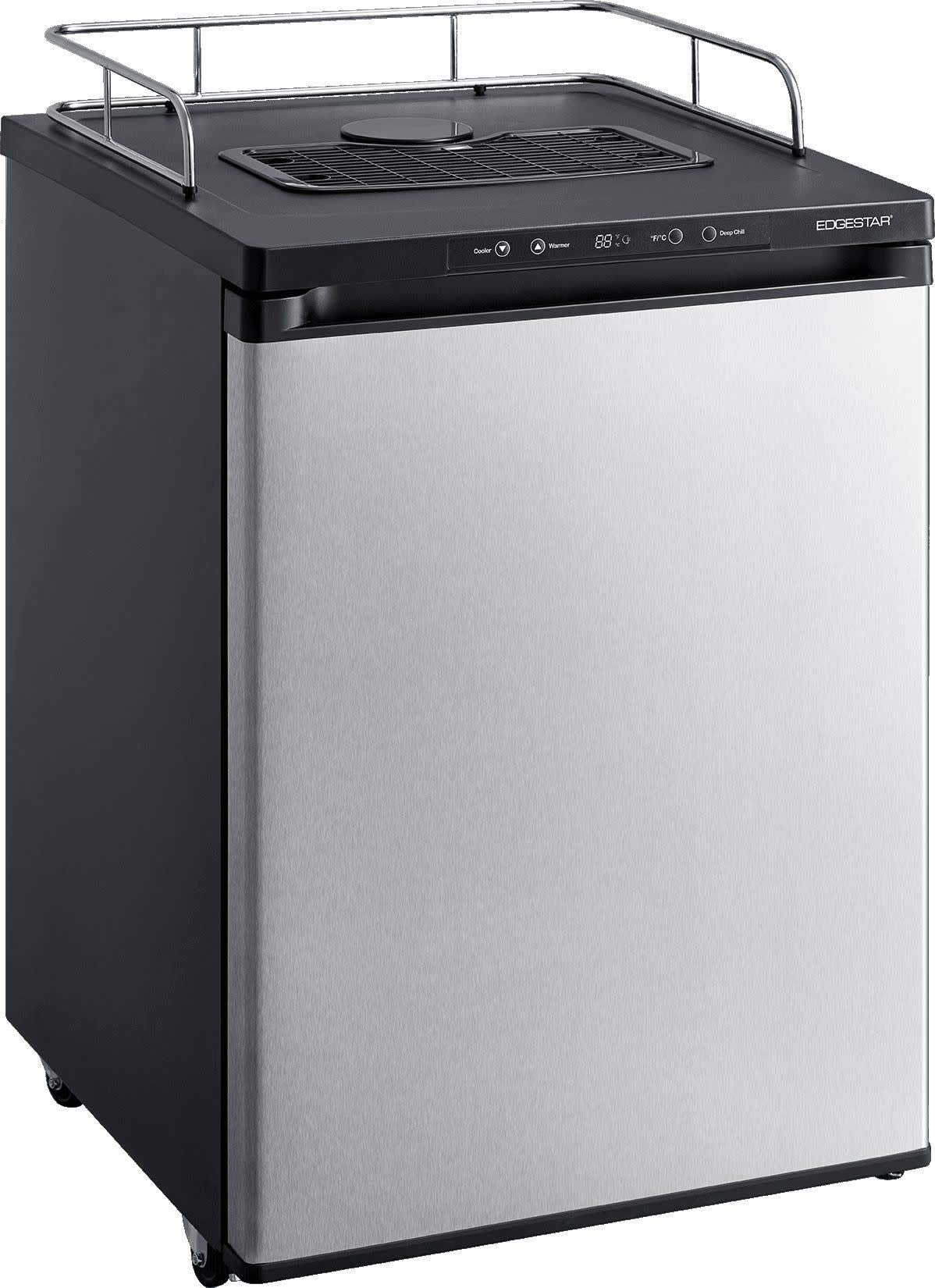 EdgeStar BR3002SS 24 Inch Wide Kegerator Conversion Refrigerator for Full Size Keg - Stainless Steel