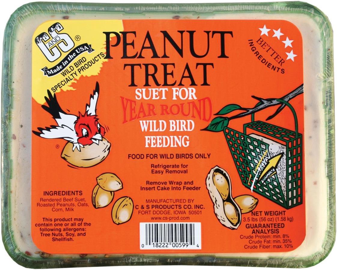 C AND S PRODUCTS 428133 Peanut Treat Suet Peanut, 3.5 lb, 1Piece Prime Pet Deals - Code 1 CS06599