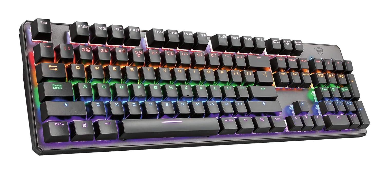 UK Layout Black Trust Gaming 23067 GXT 865 Asta RGB Mechanical Gaming Keyboard