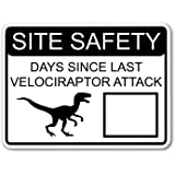 Amazon Com Velociraptor Free Workplace Sign Funny Cool Wall Decor Art Print Poster 12x18 Home Kitchen