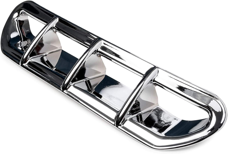 Krator Chrome Windshield Trim Windscreen Accent for Harley Davidson Tri Glide 2014-2019