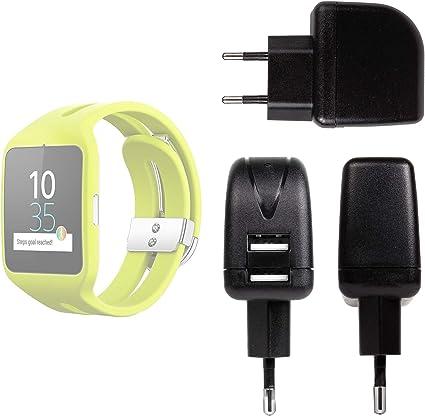 DURAGADGET Cargador con Enchufe Europeo para Reloj Sony Smartwatch ...