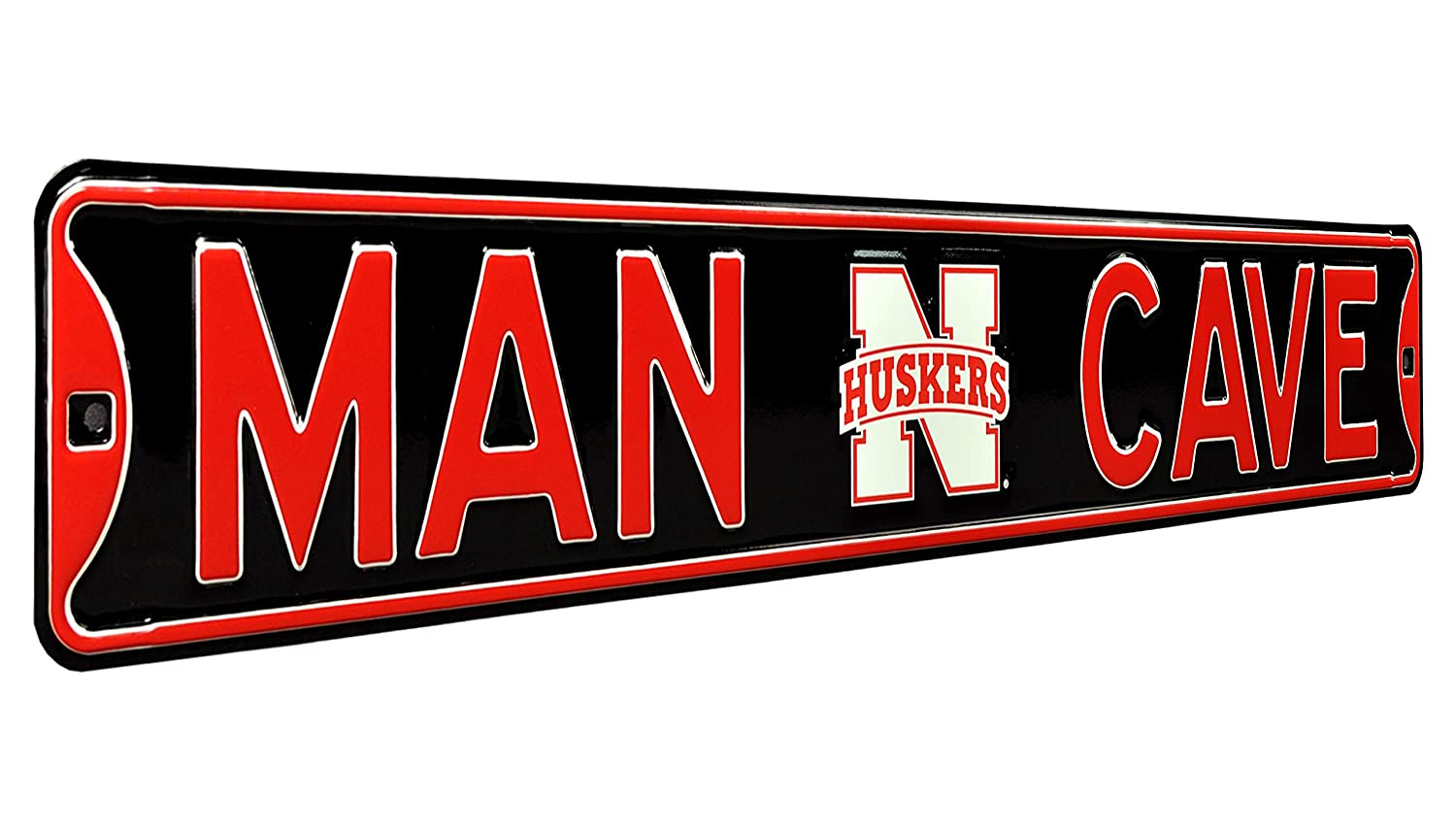 Office Team Color Authentic/  Street Signs NCAA/ MAN CAVE REAL 3 Foot Garage- Perfect Gift for Him!! 36 x 6 Premium Grade Solid Steel/ Embossed STREET SIGN- Prime Wall Decor for Home Nebraska Cornhuskers Officially Licensed