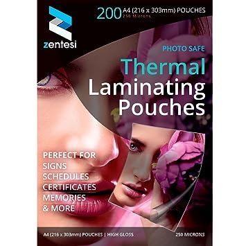 200  X A4 150 MICRON GLOSS LAMINATING POUCHES LAMINATOR MACHINE SLEEVES SHEETS
