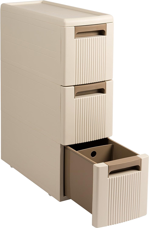 Nischenregal Rollwagen Rollcontainer Organizer Kunststoff Küche Badezimmer  Beige (16 Auszüge)