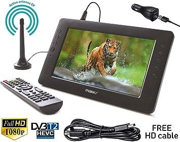 Maxxo 2en1 Decodificador HD TDT + Mini Televisión Portátil DVB-T ...