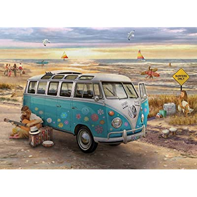 1000 Piece Jigsaw Puzzle for Adults The Love and Hope VW Bus Puzzle: Toys & Games