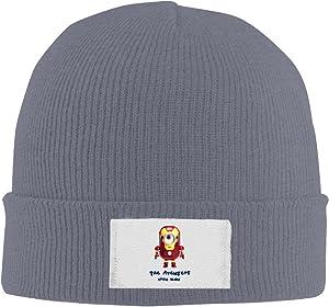 Amone Minion Iron Man Winter Knitting Wool Warm Hat Black