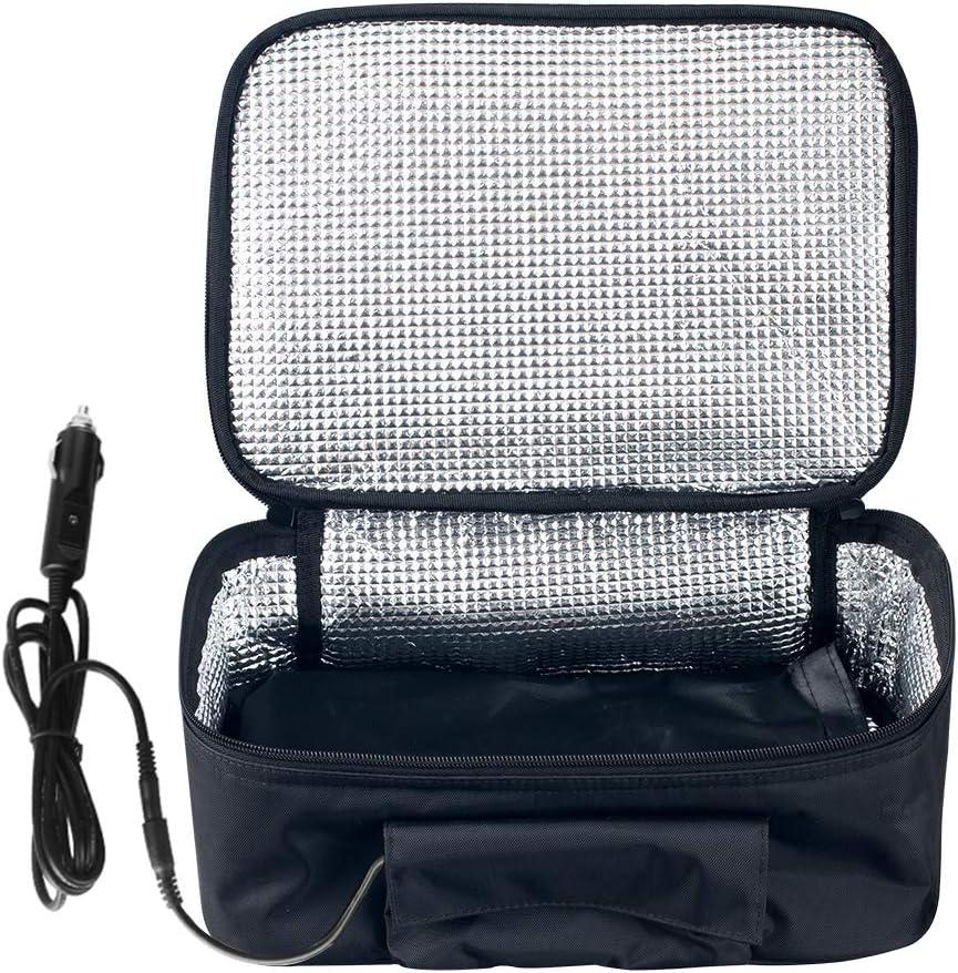 Janedream 12V Portable Car Food Warmer Mini Oven Microwave Self Heating Lunch Bag (Black)