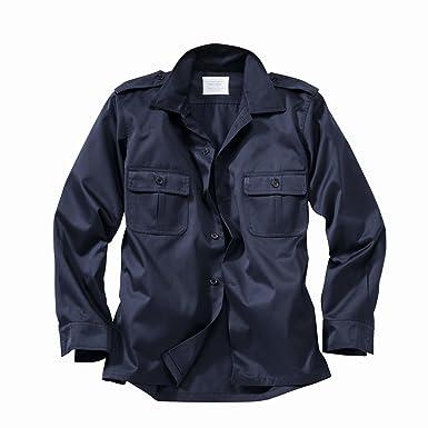 US Hemd, langarm, schwarz, Größe M