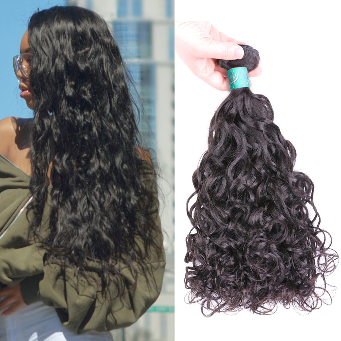 Bly Brazilian Natural Loose Wave Virgin Human Hair Wet And Wavy 3