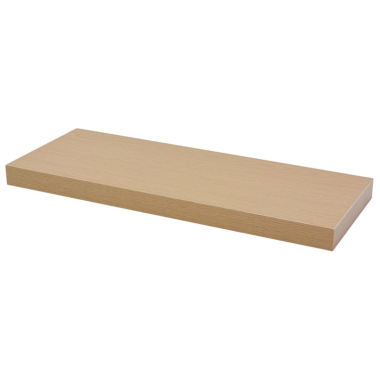 DURAline Floating Wall Shelf, Oak, 38 x 60 x 23.5 cm Fetim UK 1171726