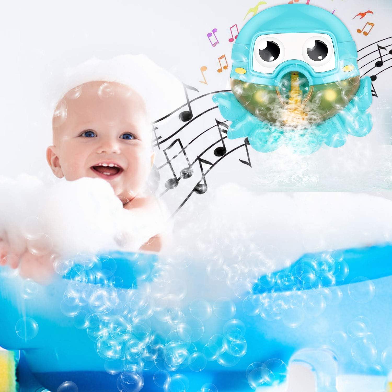 Gifort Juguete de Ba/ño de Burbujas M/áquina Autom/ática de Burbujas Que Sopla Bubble Maker con M/úsica de Canci/ón de Cuna para Beb/és y Ni/ños