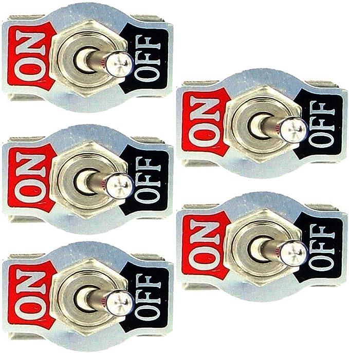 Mintice 5 X Kfz Auto 20a 125v 15a 250v Kippschalter Schalter Wippschalter Spst 2 Polig Ein Aus Metall Auto