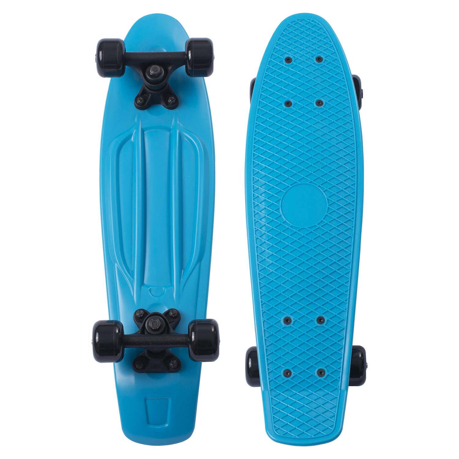 Movendless YD-0001 Quip Skateboard 22.5 Inches Classic Plastic Cruiser Skate Board, Blue by Movendless