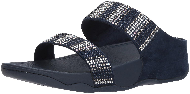 FitFlop Women's Flare Strobe Slide Sandal B07994XHDG 6 B(M) US|Midnight Navy