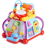 Huile Musical Activity Cube Toy Educational Game Play Center Toy with Lights and Sounds