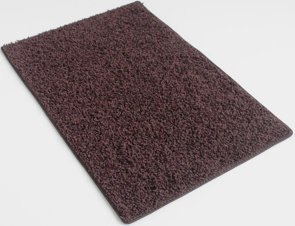 COLORFUL COLLEGE CARPET RUGS (Rectangle & Runners) - 1'' Pile HeightCozy Under Foot (Chocolate Brownie, 3'X12')