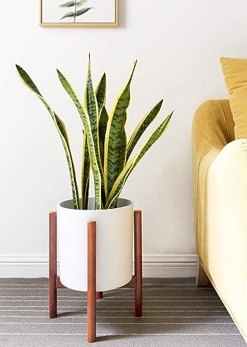 pflanzenst nder mitte des jahrhunderts holz blumentopf. Black Bedroom Furniture Sets. Home Design Ideas