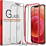TOZO for iPhone 12 / iPhone 12 Pro 6.1 inch Screen Protector [3-Pack] Premium Tempered Glass [0.26mm] 9H Hardness 2.5D…