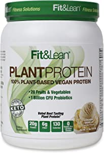 Fit & Lean Plant Protein Meal Replacement Protein Powder Vanilla, 18.72 Ounce