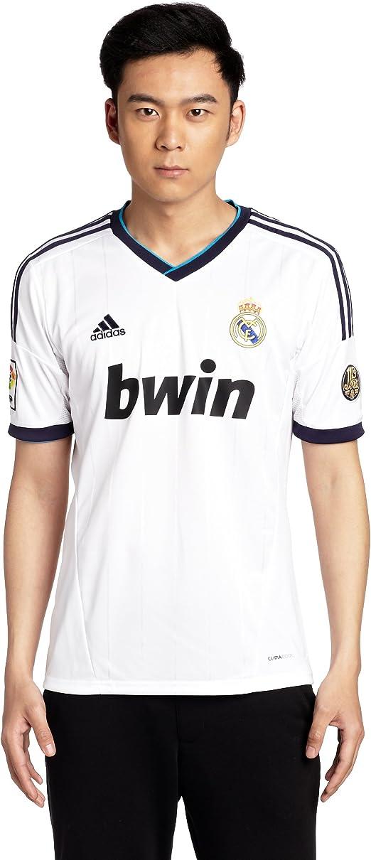 Adidas Real Madrid C.F. - Camiseta de fútbol sala para hombre, talla XXL, color blanco / negro: Amazon.es: Ropa y accesorios