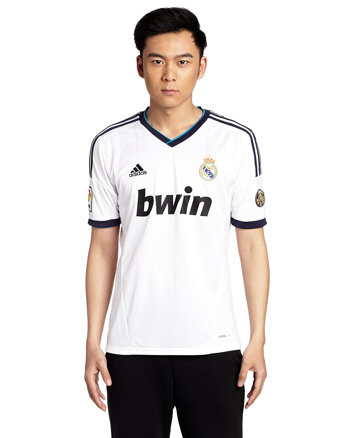 super popular cb530 542a0 Amazon.com : adidas 2012-13 Real Madrid Home Football Shirt ...