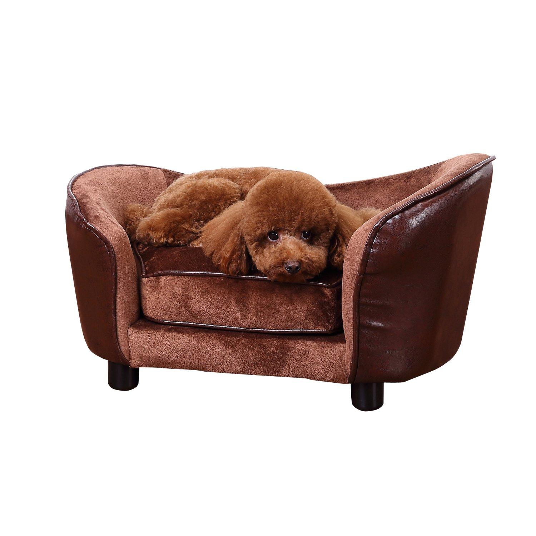 PawHut Luxury Pet Sofa Dog ...