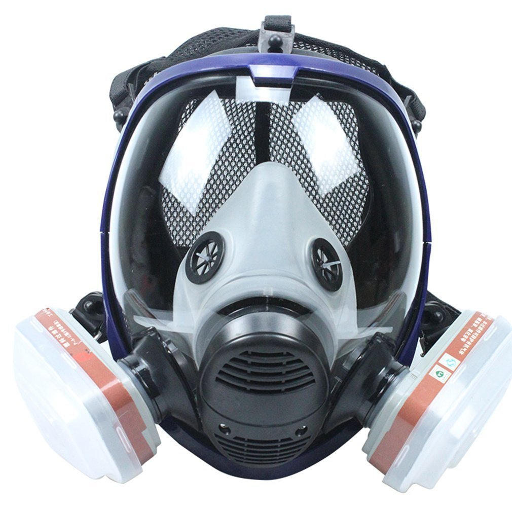 Full Face Respirator Mask with Filters Similar For 6800 Masks Organic Vapors N95 Level Silicone Respirator Mask for Painting, Chemicals,Pesticide by Bearhoho