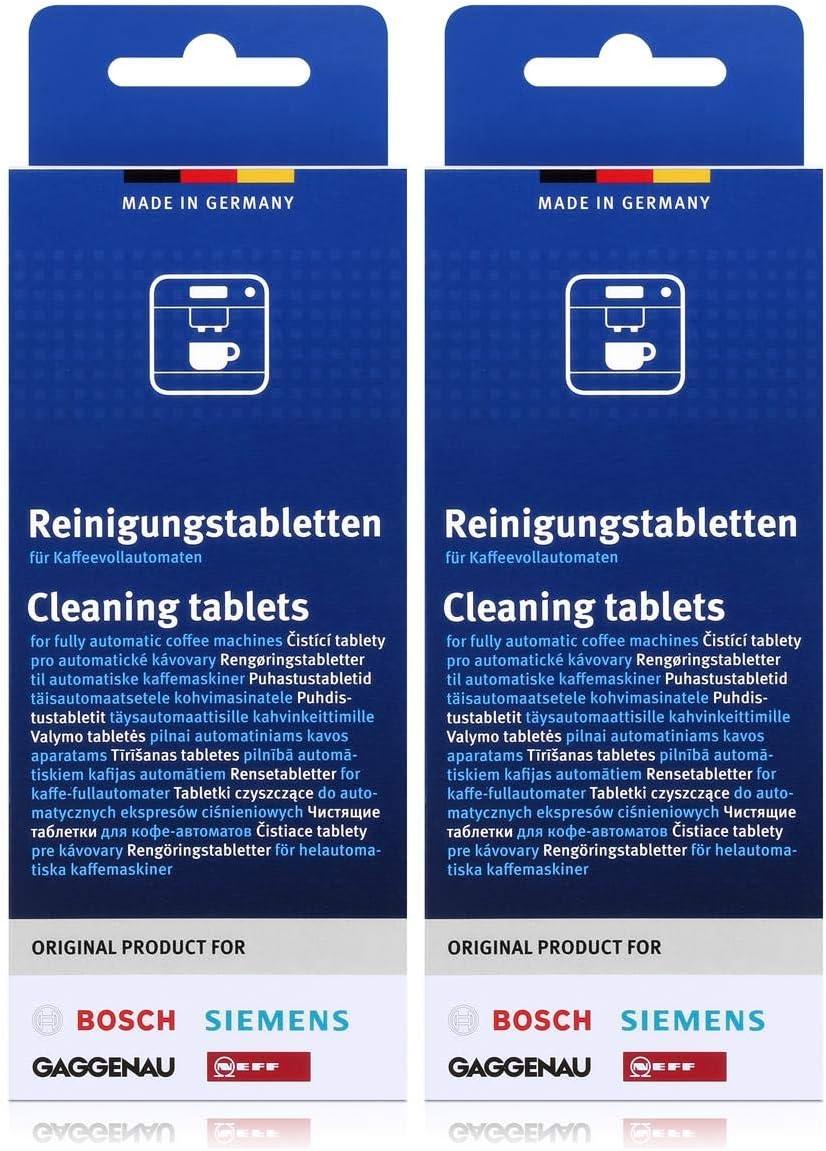 Bosch TCZ6001 - Pastillas de limpieza para cafeteras (2 unidades ...